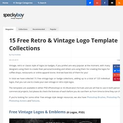 15 Free Vintage Logo Template Collections (120 Logos)