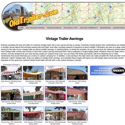 Vintage Trailer Awnings, from OldTrailer.com