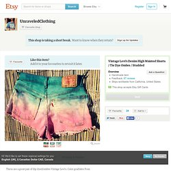 Vintage Levi's Denim High Waisted Shorts / by UnraveledClothing