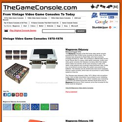 Vintage Video Game Consoles 1970-1976