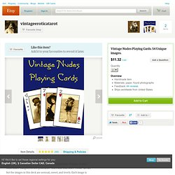 Vintage Nudes Playing Cards. 54 Unique by vintageeroticatarot