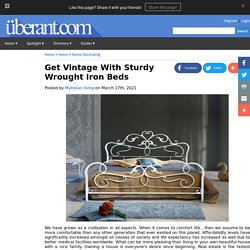 Get Vintage With Sturdy Wrought Iron Beds