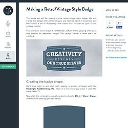 Making a Retro/Vintage Style Badge With Illustrator - Yassine Bentaieb
