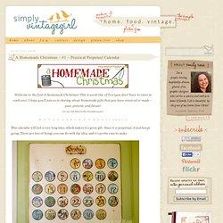 Simply Vintagegirl Blog & Blog Archive & A Homemade Christmas - #1 - Practical Perpetual Calendar