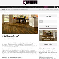 Is Vinyl Flooring for you?