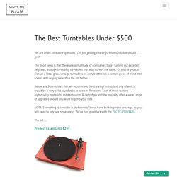 The Best Turntables Under $500 «