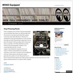 Vinyl Pressing Plants