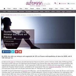 Viol : 8 148 viols sur mineurs par an en France