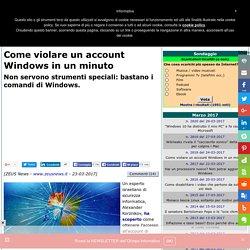 Come violare un account Windows in un minuto