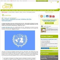 Pour l'ONU, HADOPI est une violation des lois internationales !