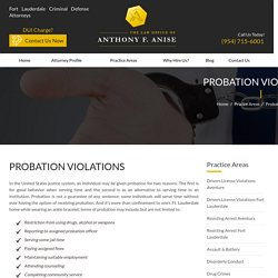 Violations of Probation Attorney in Fort Lauderdale, Fl