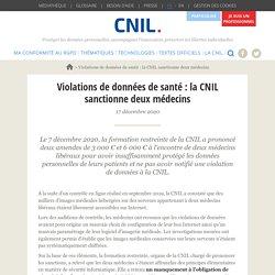Violations de données de santé : la CNIL sanctionne deux médecins