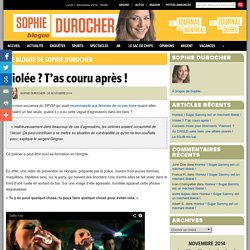 Le blogue de Sophie Durocher