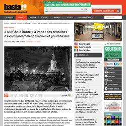 24 nov. 2020 « Nuit de la honte » à Paris : des centaines d'exilés violemment évacués et pourchassés
