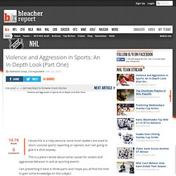 Violence and Aggression in Sports: An In-Depth Look (Part One)