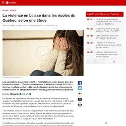 La violence en baisse dans les écoles du Québec, selon une étude