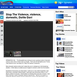 Stop The Violence, violence, domestic, Dottie Davi - Story