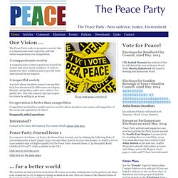 The Peace Party - Non-violence, Justice, Environment