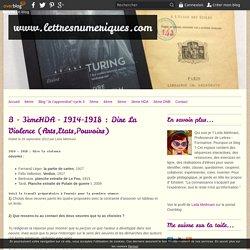 B - 3èmeHDA - 1914-1918 : Dire La Violence (Arts,Etats,Pouvoirs) - www.lettresnumeriques.com