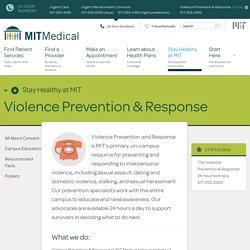 Violence Prevention & Response