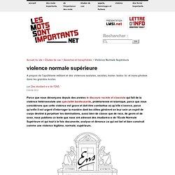Violence Normale Supérieure