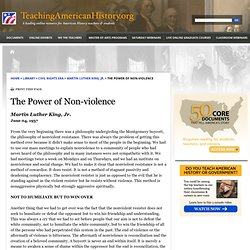 The Power of Non-violence by Martin Luther King, Jr.