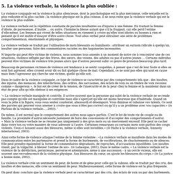 5. La violence verbale, la violence ... - theses.univ-lyon2.fr