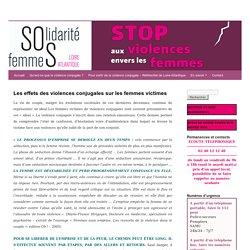 Les effets des violences conjugales sur les femmes victimes