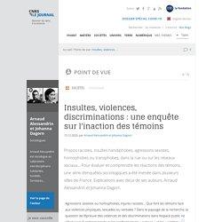 Insultes, violences, discriminations : une enquête sur l'inaction des témoins