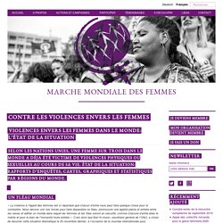 Violences envers les femmes dans le monde: l'état de la situation