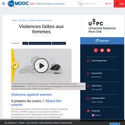 Violences faites aux femmes (MOOC, USPC)