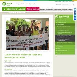 Lutte contre les violences faites aux femmes et aux filles