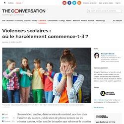 Violences scolaires: oùleharcèlement commence‑t‑il?