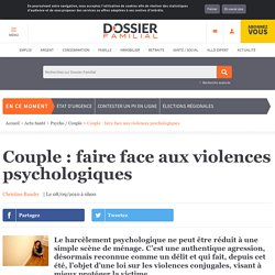 Couple : faire face aux violences psychologiques