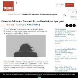Violences faites aux femmes : la ruralité n'est pas épargnée