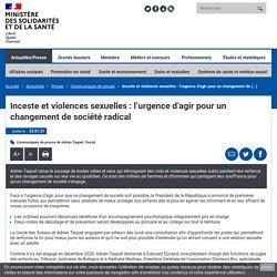 Inceste et violences sexuelles : l'urgence d'agir pour un changement de socié...
