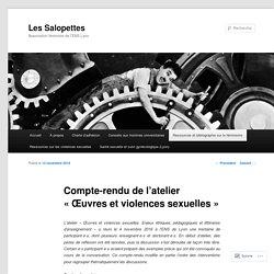 Compte-rendu de l'atelier «Œuvres et violences sexuelles