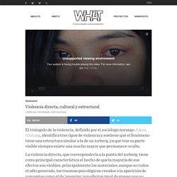 WHAT – Violencia directa, cultural y estructural