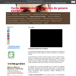 Violencia dentro de la familia - Formacion a distancia toda España y Latinoamerica