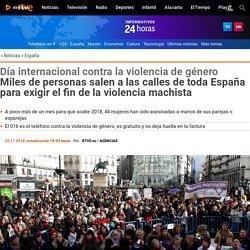 Miles de personas salen a las calles de toda España para exigir el fin de la violencia machista 25-11-2018 RTVE
