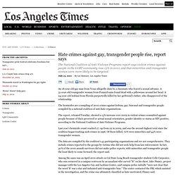 LGBT hate crimes: Violent crimes against gay, transgender people rise 13%