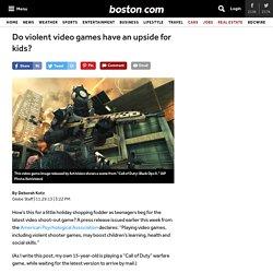 Do violent video games have an upside for kids? - Health