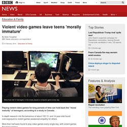 Violent video games leave teens 'morally immature'
