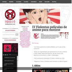13 Violentas películas de anime para morirse