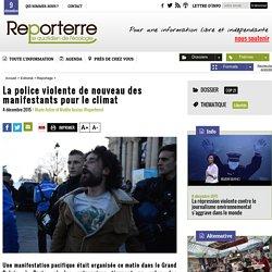La police violente de nouveau des manifestants pour le climat