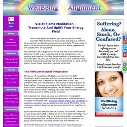 Violet Flame Meditation - Transmute And Uplift Your Energy Field