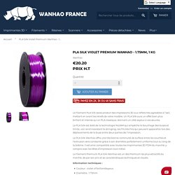 PLA Silk Violet Premium Wanhao - 1.75mm, 1 Kg