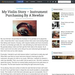 My Violin Story – Instrument Purchasing By A Newbie