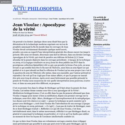 Jean Vioulac : Apocalypse de la vérité