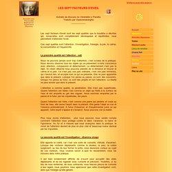 LES SEPT FACTEURS D'EVEIL - VIPASSANASANGHA BOUDDHISME RETRAITES MEDITATION VIPASSANA